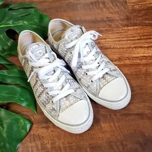 Converse Silver Sequin Sneakers